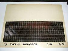 Ersatzteil Mikrofilm Planfilm Microfiche Peugeot 604 v. Juli 1978