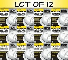 Lot of 12 First Alert BRK Smoke And Carbon Monoxide Alarm Battery Powered SCO2B