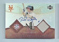 DAVID WRIGHT 2007 ARTIFACTS JERSEY AUTOGRAPH AUTO /30