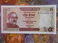 Bangladesh 5 TAKA UNC 2014  - GEM UNC & MINT - 1 note