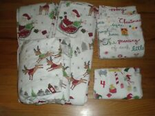 Pottery Barn Kids 5 Mixed pieces Winter Christmas Twin Flannel Sheets Case