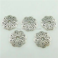 15766 70PCS Silver Vintage 13mm Flower End Bead Caps For Jewelry Craft Diy