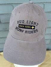 Budweiser Bud Light Surf Riders Beach Patrol Retro Strapback Baseball Cap Hat