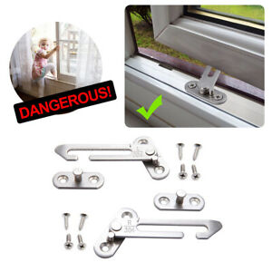 Security Window Restrictor Child Baby Safety Locks Catch Door Ventilator 2PCS