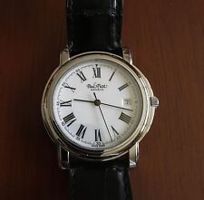 Paul Picot Mens SS Automatic Classic Dress Watch with white dial + Extra Strap!