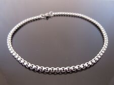 "3mm Stainless Steel Square Belcher Chain Anklet Ankle Chain 10"" (25.5cm)"