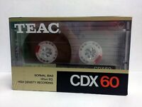 TEAC CDX 60 BLANK AUDIO CASSETTE TAPE NEW RARE KOREA MADE