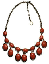 Joan Rivers Orange & Gold Tone Summer Statement Necklace