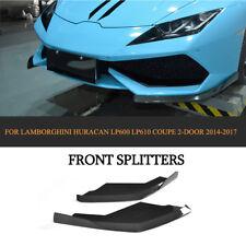 Front Splitters Body Kit For Lamborghini Huracan LP600 610 Coupe Carbon Fiber