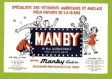 """PARIS RUE AUBER """" VETEMENTS MANBY """" RAYON COUTURE BUVARD BLOTTING PAPER"""