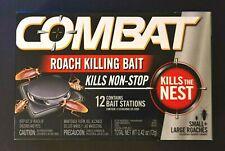 Combat Large & Small Roach Killing Bait Stations Kills Nest 12-CT SAME-DAY SHIP