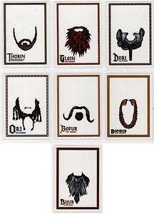 2015 Cryptozoic Hobbit the Desolation of Smaug Dwarf Beard Insert You Pick