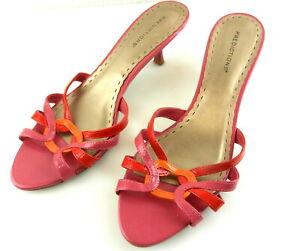 Predictions Womens Dressy Kitten Heel Mule Sandal Shoes  Pink Mauve  Sz 10   T53