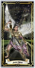 Saint St Uriel the Archangel laminated Holy Prayer card. Angel Collection.