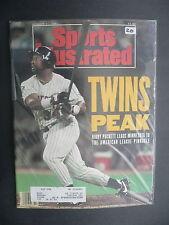 Sports Illustrated October 21, 1991 Kirby Puckett Twins MLB De La Hoya Oct '91 B