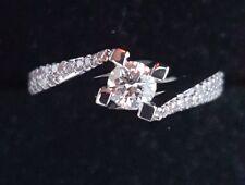 Anello Solitario oro bianco 18 kt diamanti 0,55 ct - promessa Matrimonio