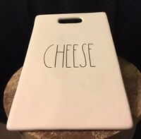 "Rae Dunn ""Cheese"" Cheese Board Platter Pottery Artisan Collection"