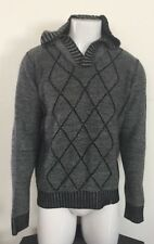 "Mark Ecko Cut & Sew ""Deadly Threads"" Gray Hooded Sweatshirt Size M"