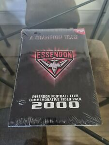 AFL ESSENDON Bombers COMMEMORATIVE Video Pack 2000 VHS X 3 Tapes Rare New Sealed