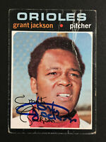 Grant Jackson Orioles Signed 1971 Topps Baseball card #392 Auto Autograph