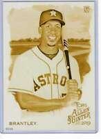 Michael Brantley 2019 Allen and Ginter 5x7 Gold #218 /10 Astros