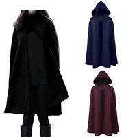 Women Fashion Solid Hooded Sleeveless Bandage Cloak Cosplay Long Outwear Coat