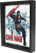 CAPT AMERICA-CW-CAPTAIN AM8x10 3D SHADOWBOX WALL DECOR SUPERHERO MARVEL USA WW2!