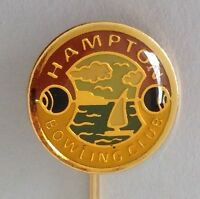 Hampton Bowling Club Badge Pin Lawn Bowls (M23)