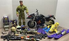 "Mattel Max Steel 12"" Action Lot of Figure & Accessories Motorcycle Free Shipping"