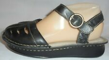 EASTLAND, LADIES BLACK LEATHER FISHERMAN SANDAL, SIZE 6 M