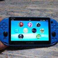 PlayStation Vita Wi-Fi Model Aqua Blue PCH-2000ZA23 Only Console Used F/S Japan