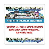 10 hochwertige Nischen Blogs - Projekt mit PLR/Reseller-Lizenz & Verkaufsseite