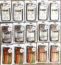 WHOLESALE LOT IPHONE X / XS FASHION CASES WHITE MARBLE ORANGE GRAY AGATE GLASS