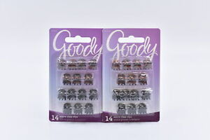 LOT OF 2 Goody Micro Claw Clips, 14ct, Tortoise Shell & Black