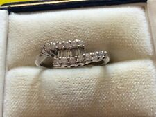 Super Quality Ladies Hallmarked 18ct White Gold Fancy Baguette Diamond Ring - N