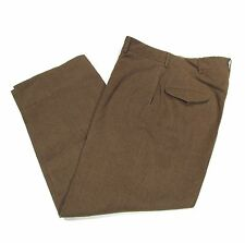 Vintage NOS Korean War Era M-52 M-1952 OD Wool Field Combat Trousers Pants 32x29