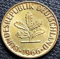 1966-D Germany 5 Pfennig Coin - High Grade - Mint Condition