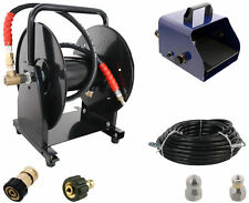 "Scheiffer Sewer Jetter Kit - Foot Pedal Hose Reel 3/8"" x 100' Hose and Nozzles"