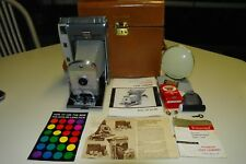 VINTAGE Working Polaroid Land Camera 800 Model 150 Leather Case + Accessories