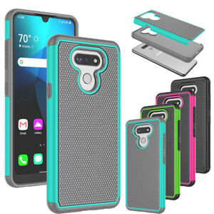 For LG Harmony 4 / Premier Pro Plus Hybrid Silicone Rubber Hard Shell Case Cover