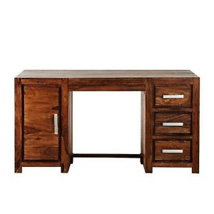 Handcrafted Solid Teak Wooden Study Table, Solid Wood Writing Table,Wooden Table