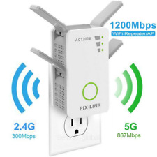AC 1200Mbps WiFi Range Extender Repeater Dual Band Wireless Signal Booster 5G US