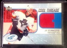 2005-06 UD ICE COOL THREADS - JAY BOUWMEESTER #CTJB - Florida Panthers