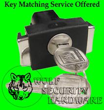 GM Glove Box Compartment Squeeze Latch Black & Chrome W/ Lock Cylinder & 2 Keys