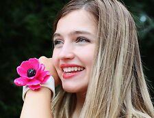 kate spade bracelet CUFF florence broadhurst RARE PINK ROSE FLORAL LUCITE