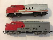 LOT OF 2 BACHMANN HO SCALE SANTA FE LOCOMOTIVES F7 F9 FOR PARTS OR REPAIR