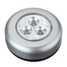 Sans fil 3 LEDS Ampoule Lumière À Piles Lampe Tactile Pour Véhicule Armoire XC