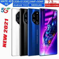 "7.3"" Smart phone Android 10.0 10-Core 5G 5600 mah 12GB+512GB PlayGame USA $$"