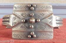 bracelet ethnique manchette Afrique bronze argenté (2)
