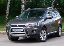 PARE BUFFLE HOMOLOGUE MITSUBISHI OUTLANDER 10-12 INOX, DIAM 60MM, POLI MAIN